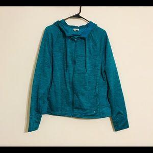 Danskin Now zip front hoodie jacket size 2X